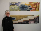 "Thumbnail image of ""Karen on sabbatical, showing her work in NYC, February"""