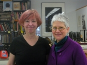 "Thumbnail image of ""Karen and Kathy Caraccio, master printer & teacher, New York"""