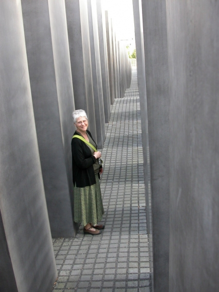 """Karen at Holocaust Memorial, Berlin"""