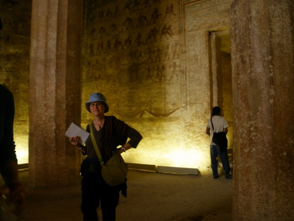 """Exploring the cliff tombs at Beni Hassen, Egypt"""