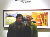 "Thumbnail image of ""Karen and Atrium Gallery director Carolyn Miles, at her solo show opening, March"""