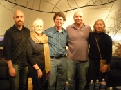 "Thumbnail image of ""Limited Edition Symposium participants and hosts, Justin Strom, Karen, Brian Shure, John Shipman, Judy Pfaff, at the University of Maryland, October """
