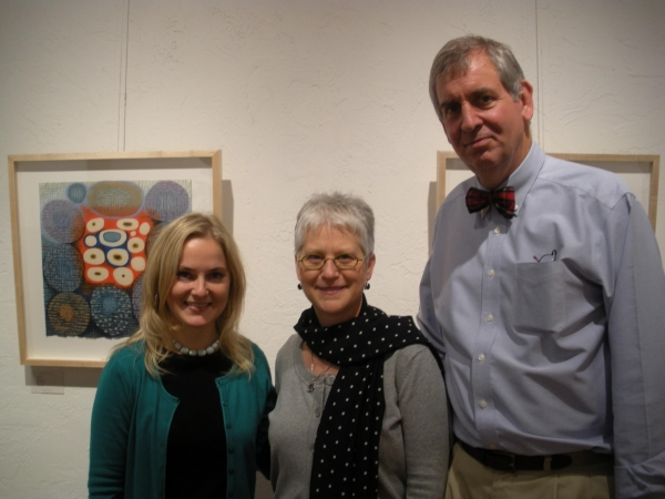 """Cara Forrler, Karen, and Sam Davidson, at Davidson Galleries, Seattle"""