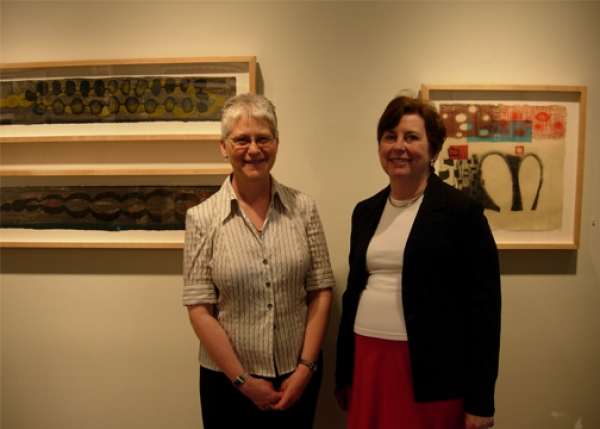 """Karen & Carolyn Miles, Director, Atrium Gallery"""