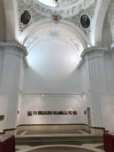 """the high altar space with my works, Arcos"""