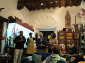 "Thumbnail image of ""Gathering the group at La Casa de Espiritus Alegres"""