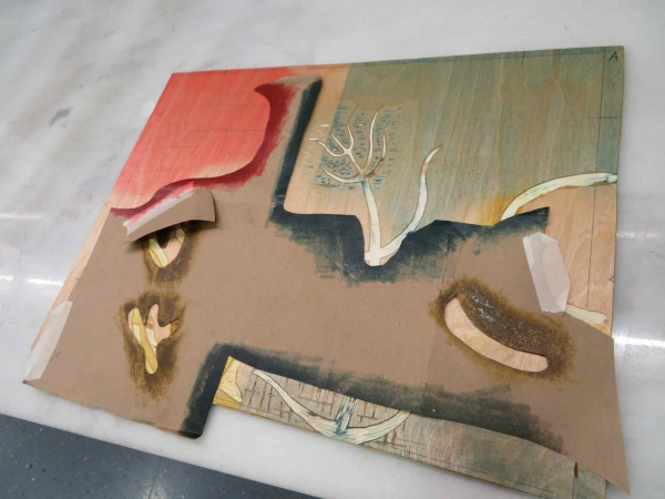 """Stencil on the woodblock, demo"""