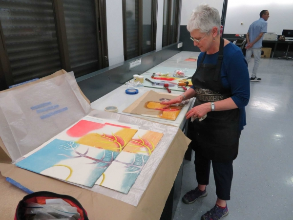 """Karen printing at the University of Seville, Spain"""