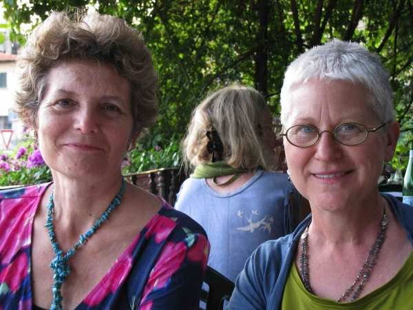 """Karen and Ky Ober, dinner in Fiesole, June"""