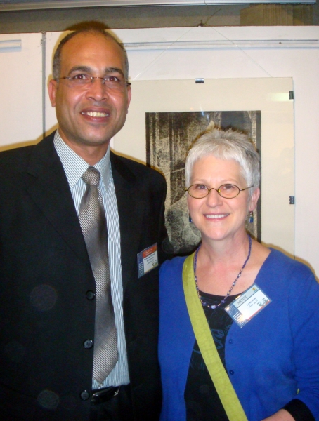 """Karen and Ashraf Abbas, organizer of International Workshop, Egypt"""