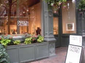 "Thumbnail image of ""Street view of Davidson Galleries, with Karen's show on exhibition"""