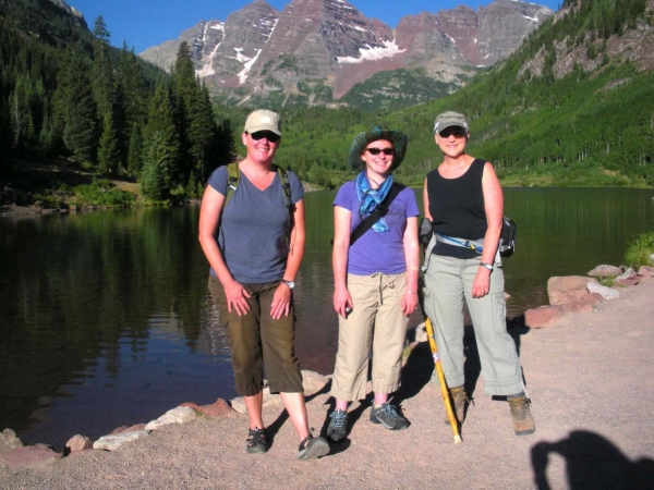 """Hiking with Catherine Chauvin and Summer Ventis in Maroon Bells, Colorado"""