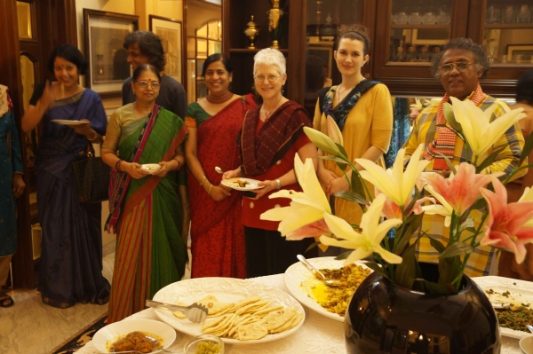 """Warm hospitality, great dinner party and guests, Dhaka, Bangladesh, May"""