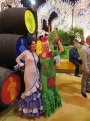 "Thumbnail image of ""Ole! Karen and Patricia at the Festival, Jerez, Spain"""