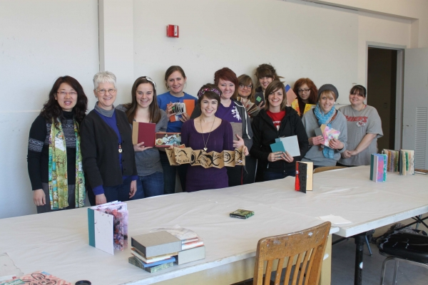 """Spring term Art of the Book class shows off their projects, UNL"""