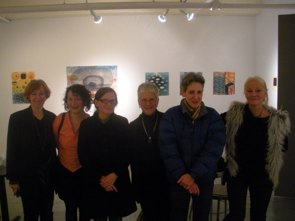 """Karen and friends at show opening, Blackburn 20/20, NYC, February"""