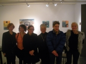"Thumbnail image of ""Karen and friends at show opening, Blackburn 20/20, NYC, February"""