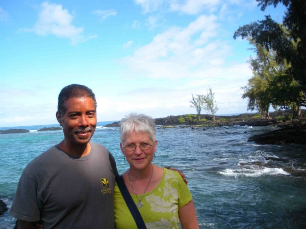 """Karen with Michael Marshall, Hilo, Hawaii, November"""