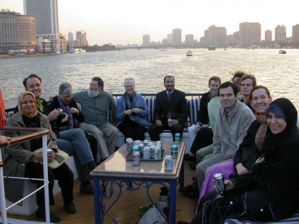 """American Artists and Egyptian friends in Cairo"""