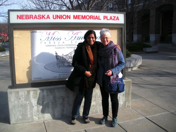 """Karen welcomes Rokeya Sultana, visiting Fulbright Scholar to UNL for 9 months"""