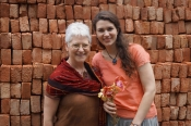 "Thumbnail image of ""Karen and UNL grad student Camille Hawbaker, as great traveling companions, Dhaka, Bangladesh, May"""