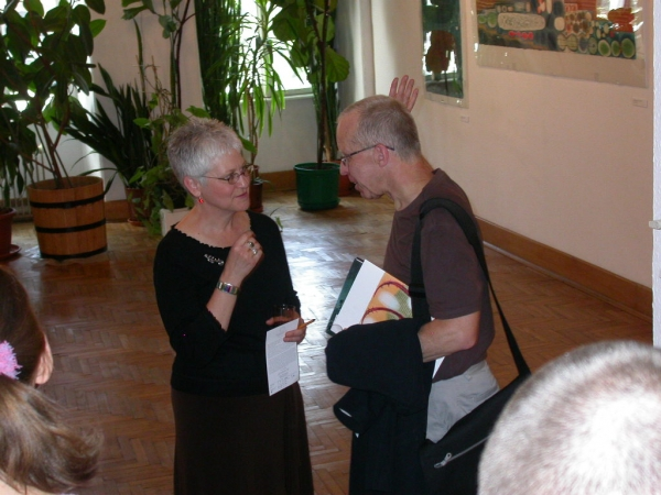 """Karen & Richard Noyce at solo show, Krakow"""